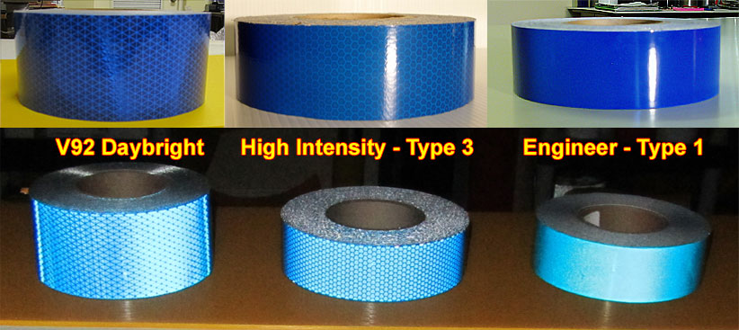 Reflective tape colors reflective tape pictures specifications blue retro reflective tape aloadofball Gallery