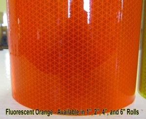 fluorescent orange V98 reflexite