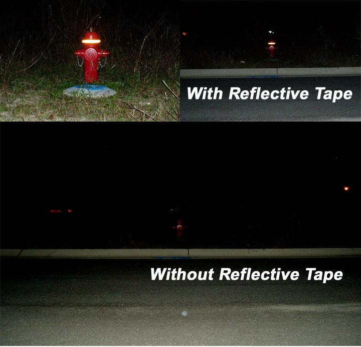 Retro reflective tape for fire hydrants reflective tape for Most reflective white paint
