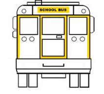school bus back markings reflective tape